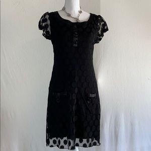 EnFocus Studio Black Dress with cap sleeves in 8.